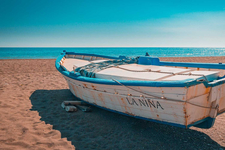 Boot am Strand - Andalusien